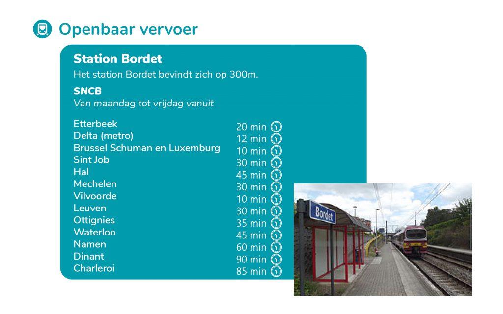 Hoe komt u met de trein naar Brusafe?